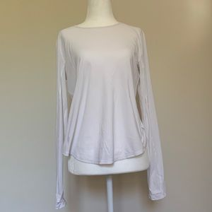 White long sleeve Lululemon pleated back top 6